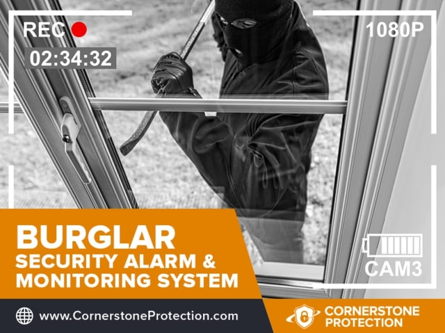 burglar security alarm and monitoring system in lexington cornerstone protection
