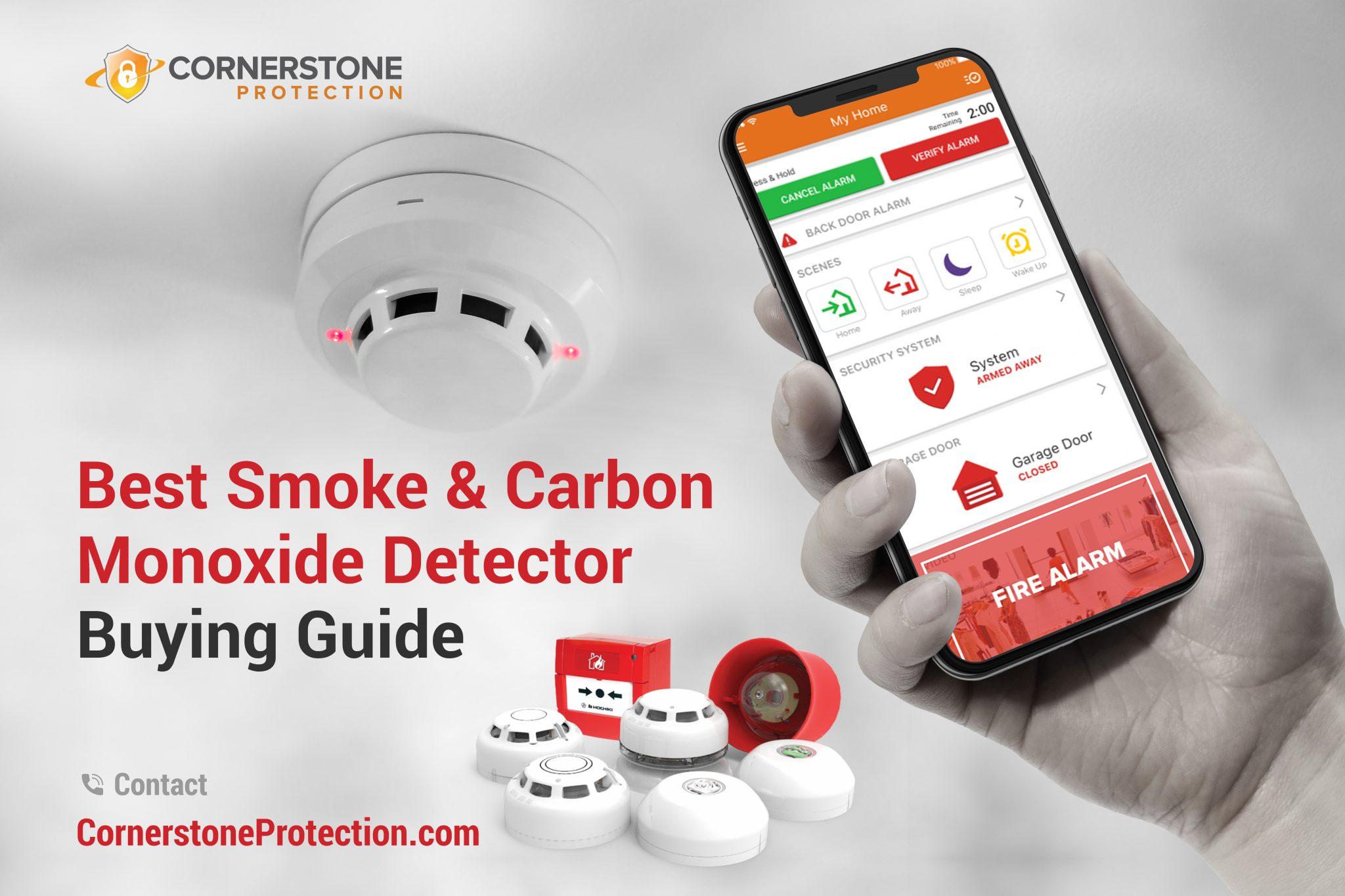 smoke and carbon monoxide detector cornerstone protection