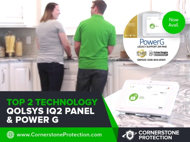 top 2 features technology qolsys and power g cornerstone protection