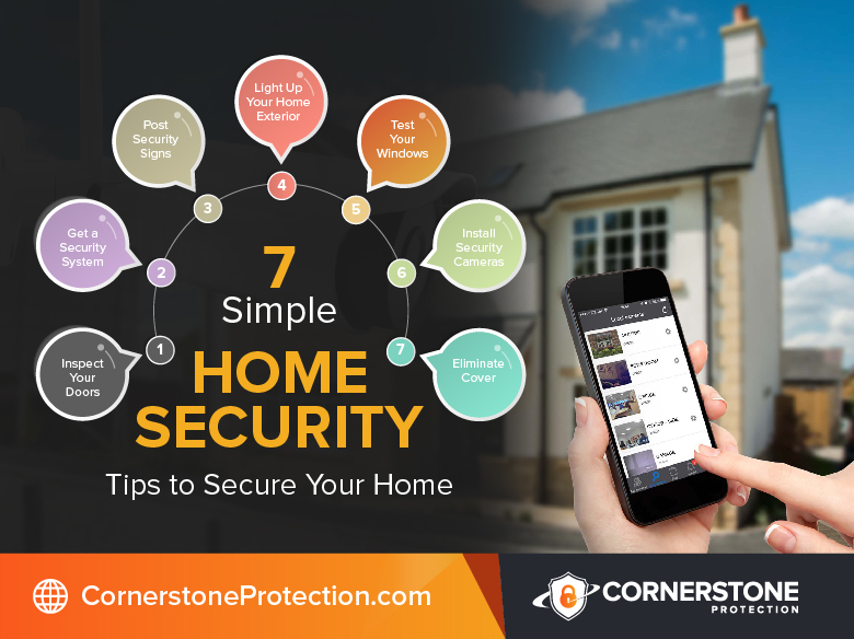 home security tips to secure your home cornerstone protection