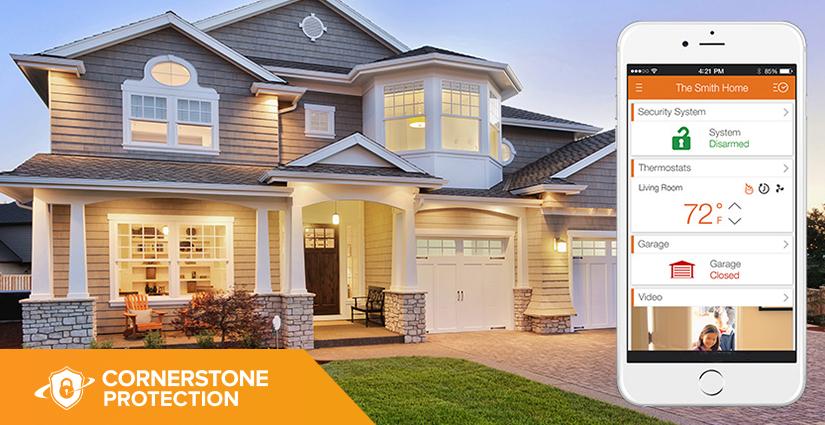 smart wireless alarm system cornerstone protection