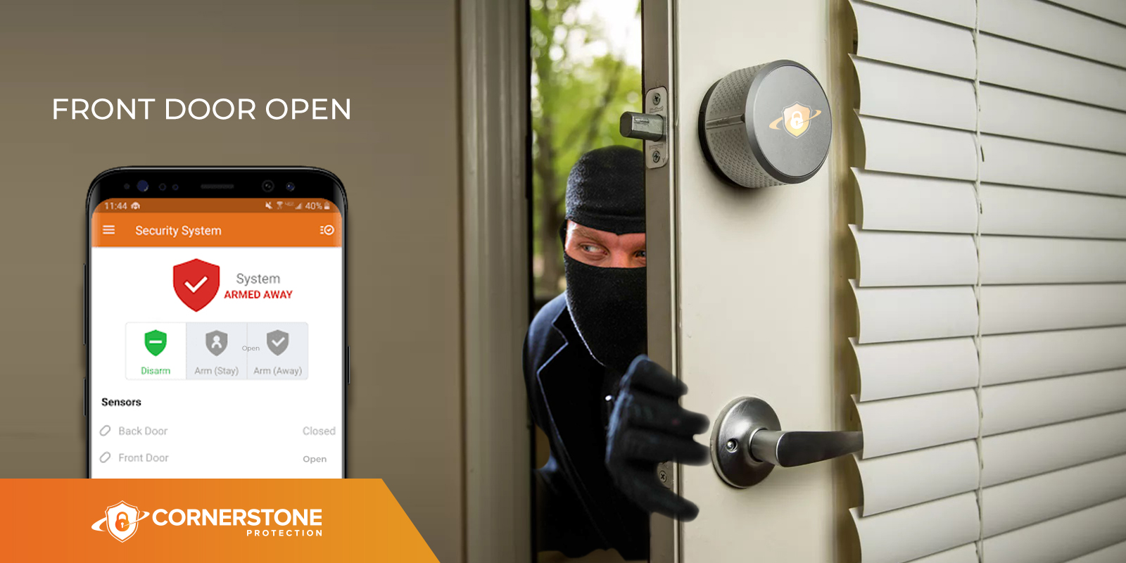 home security tricks locking doors or windows cornerstone protection