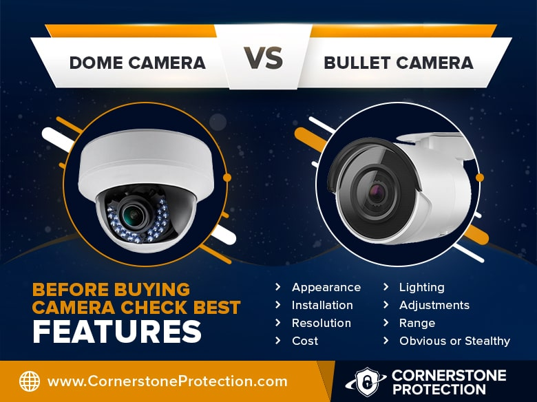 bullet vs dome camera cornerstone protection