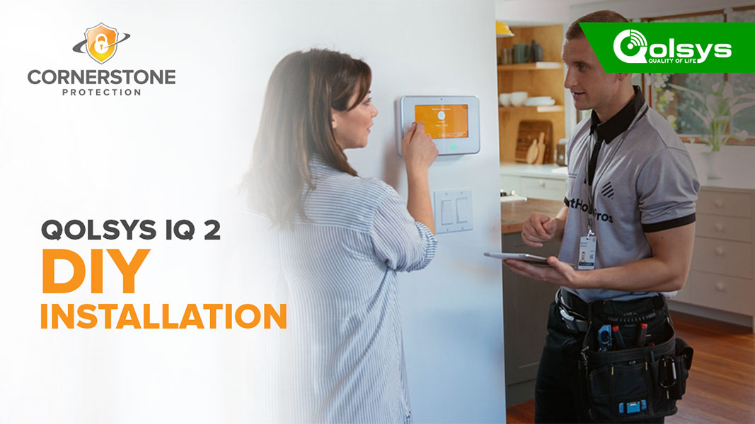 Qolsys IQ Panel 2 DIY Installation step by step guide video Cornerstone Protection