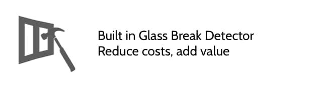 glass break detector qolsys iq2 panel cornerstone protection